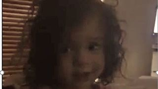 Adorable Baby asks for her Daddy