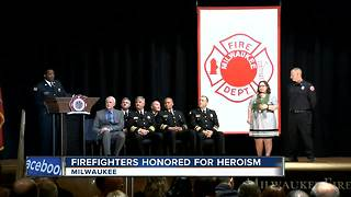 Firefighters honored for bravery at Meritorious and Community Service Award ceremony - Video