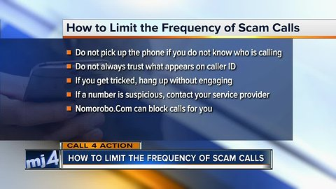 Call 4 Action: How to limit the frequency of scam calls