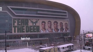 Milwaukee Bucks fans celebrate huge game 1 victory