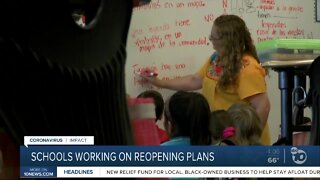 Schools working on reopening plans