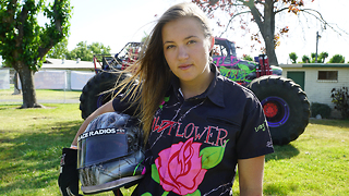 America's Youngest Pro Female Monster Truck Driver - Video