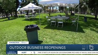 Outdoor business reopenings around San Diego County