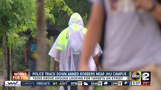 Armed robbery suspects caught near JHU campus - Video
