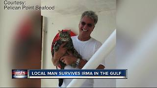 Local man survives Irma in the Gulf - Video