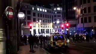 Police Cordon Off Streets After London Bridge Incident - Video