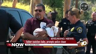 Father prompts chase after kidnapping - Video