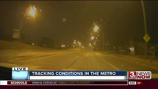 Icy conditions throughout Omaha on Thursday morning - Video