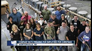 Wisconsin company gives employees guns for Christmas - Video