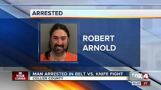 Man arrested in Belt vs. Knife Fight - Video