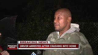 SUV crashes into Cleveland home