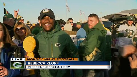 Fans from far and wide get a feel for tailgating at Lambeau