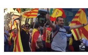 Thousands March in Barcelona Streets to Show Support for Spanish Unity - Video