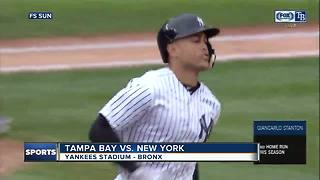 Giancarlo Stanton homer turns boos to cheers as New York Yankees beat Tampa Bay Rays 7-2