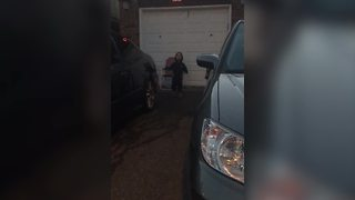 Two Tot Boys Hide While Fireworks Go Off - Video