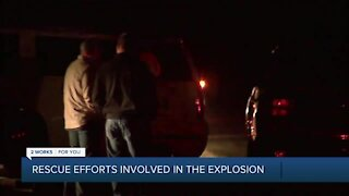 Hazardous recovery mission at dam explosion