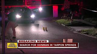 Bystander shot in Tarpon Springs neighborhood - Video