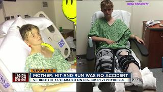 Mother desperate to find driver who hit son and left the scene - Video