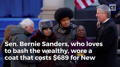 """Socialist"" Bernie Sanders Caught in $700 Coat"