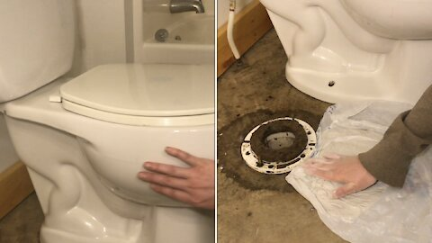 """how do you """"stop"""" a toilet from ROCKING"""