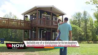 Dad builds one-of-a-kind playhouse - Video