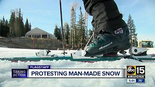 Demonstrators protest outside Arizona Snowbowl over reclaimed water