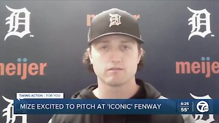 Casey Mize excited to pitch at 'iconic' Fenway Park