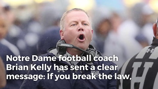 Notre Dame Football Dismisses Four Players - Video