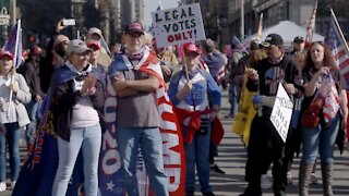 Thousands At 'Million MAGA March,' Unmasked And Talking Election Fraud
