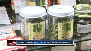 Parents struggle to get medical marijuana for kids - Video
