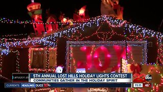 5th Annual Lost Hills Holiday Lights Contest