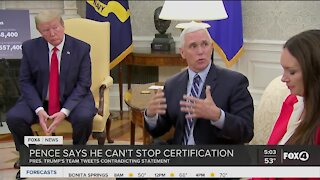 Vice President Pence says can't stop certification