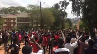 Kampala Students Protest Lifting of Presidential Age Limit - Video