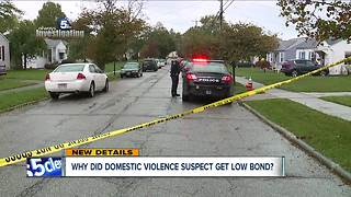 Why did domestic violence suspect get low bond? - Video
