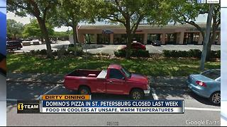 Dirty Dining: Domino's Pizza temporarily shut down by inspectors for food at dangerous temperatures - Video