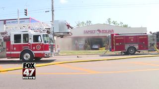 Car slammed into a Family Dollar store