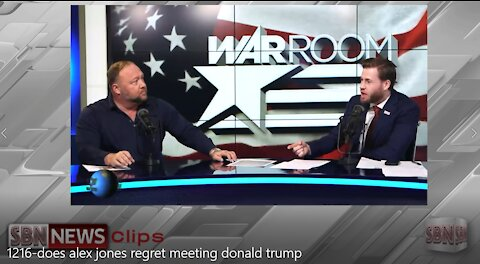 Does Alex Jones Really Regret Meeting Donald J. Trump?