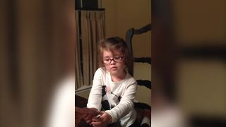 Young Girl Hates Losing In The Old Maid Game
