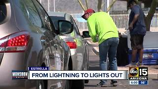 Strong storms knock out power to thousands in Estrella Foothills - Video