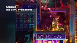 Linq construction closes lane on Las Vegas Strip