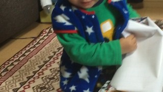 Santa Brings Dinosaur Toy for Two-Year-Old