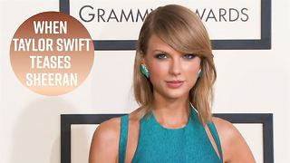 Taylor Swift teases Ed Sheeran about working out