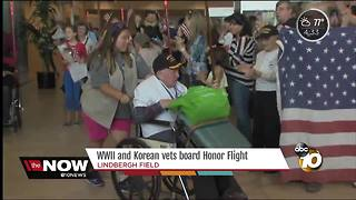 Veterans board Honor Flight - Video