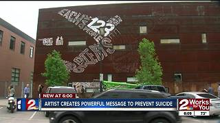 Museum-sized Suicide Prevention Mural Unveiling - Video