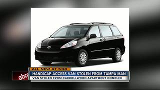 Handicap van stolen from Tampa gated community - Video