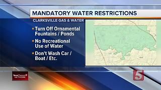 Water Leak Prompts Restrictions In Clarksville - Video