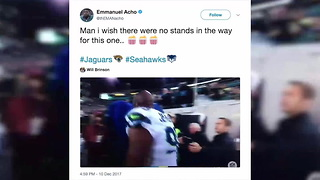 Jaguars Respond To Fans Throwing Trash At Ejected Seahawks Player - Video