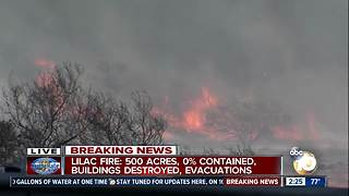 Lilac Fire continues to rage amid Santa Ana winds