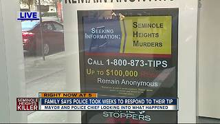 Tampa family claims numerous calls to Seminole Heights tip line not returned - Video