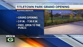 Packers Titletown Park grand opening - Video